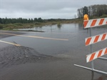 Five county roads closed due to flooding