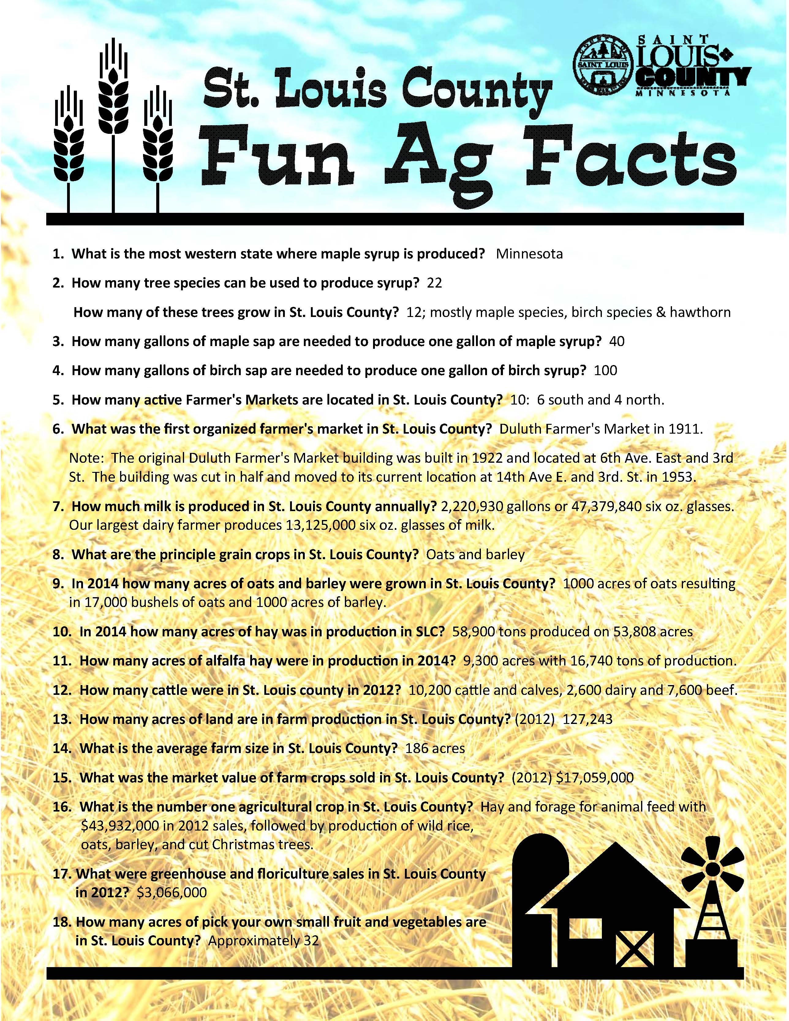 St louis county blog end the year with a baking contest rye not importance of agriculture in st louis county county extension put together the following handout click on the image below to read the fun facts 1betcityfo Gallery