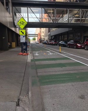 Michigan Street protected bike lane