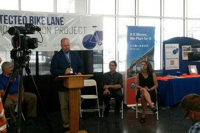 Bike Lane news conference Josh Gorham