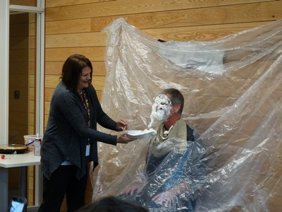 pie in the face for United Way