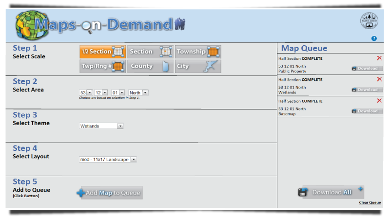 Maps on Demand